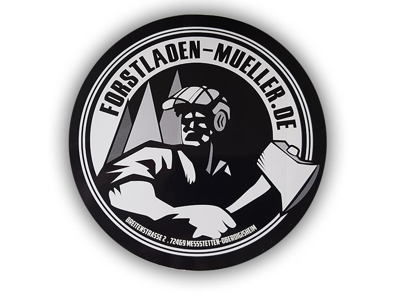 Aufkleber Forstladen Müller